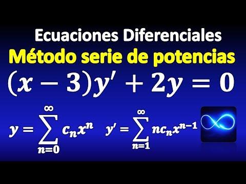 05. Ecuaciones Diferenciales, método de Series de Potencias, usando sumatorias