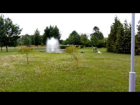 фонтан с овечками, возле химзавода Акрон
