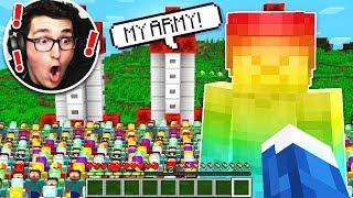 RAINBOW STEVE BUILDS THE BIGGEST MINECRAFT ARMY!