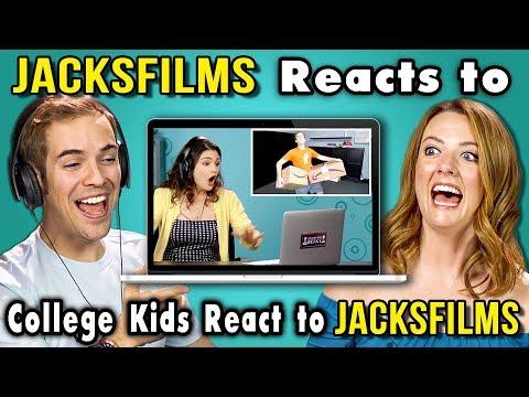 JACKSFILMS REACTS TO COLLEGE KIDS REACT TO JACKSFILMS
