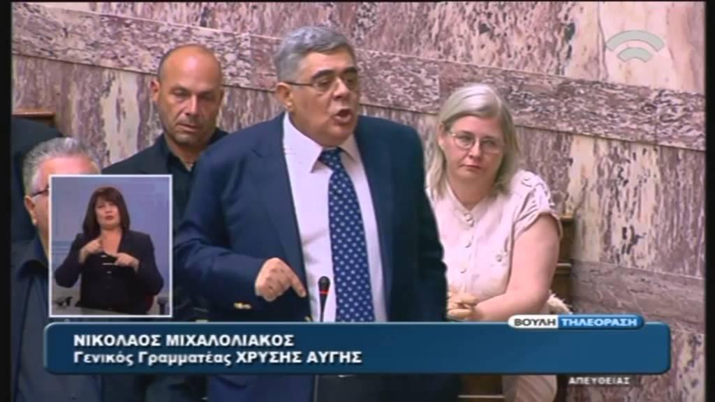 Ομιλία Ν.Μιχαλολιάκου (Πρ. Κ.Ο. της Χ.Α.) στη συζήτηση για διεξαγωγή Δημοψηφίσματος (27/06/2015)