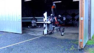 10. Running up and tuning the Yamaha 120 HP snowmobile engine on my gyroplane