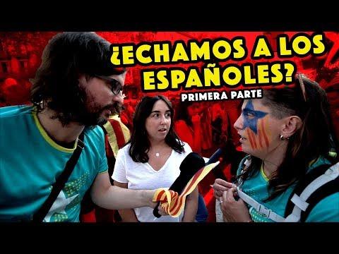 ¿ECHAMOS A LOS ESPAÑOLES? Pregunto a independentistas en la Diada. PARTE 1