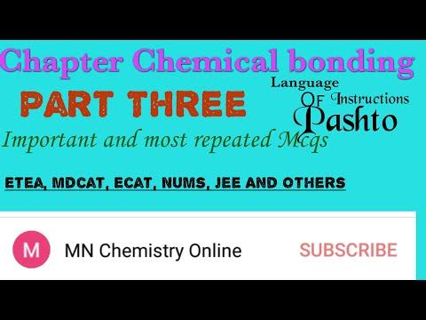 Chemical bonding Mcqs in PASHTO #Mcqs based on chemical bonding# Hybridization Mcqs# bond order Mcqs