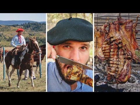 El MEJOR ASADO ARGENTINO   La Fiesta Nacional del Asado en Cholila, Patagonia, Argentina
