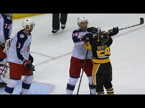 Video: Jenner cross checks Guentzel's throat, Crosby tries to fight Jones