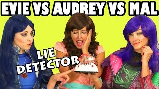 Mal vs Evie vs Audrey Lie Detector Test Disney Descendants. DisneyToysFan