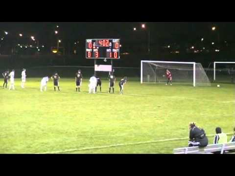 Men's Soccer vs. Kansas Wesleyan, Evison penalty kick, 9.25.10
