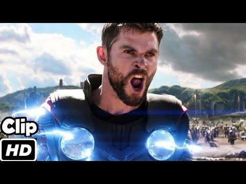 Thor Arrives in Wakanda Scene  Avengers infinity War  Movie Clip 4K ULTRA HD
