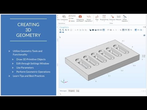 How to Use 3D Geometry Tools in COMSOL Multiphysics®