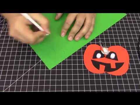 Jack-O-Lantern LED Paper Craft