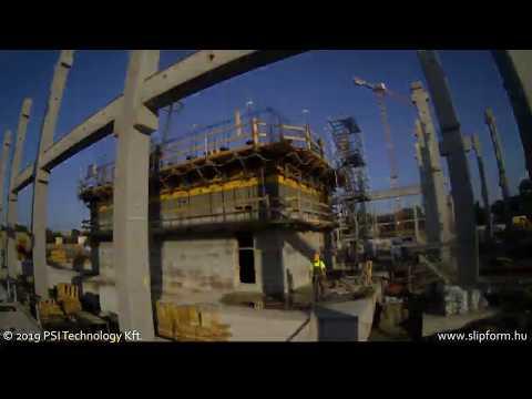Bosch Campus2 project timelapse of slipform construction