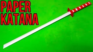 How To Make A Paper Sword   Japanese Katana Sword