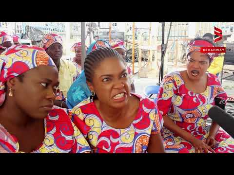 "Omoni Oboli, Toyin Abraham, Sola Sobowale on set of ""Wives On Strike: The Revolution"""