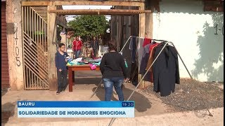 Bauru: moradores transformam a própria casa em ponto de solidariedade