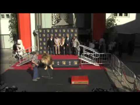 MGM Mascot Leo the Lion Get Paw Imprinted at TCL Chinese Theatre