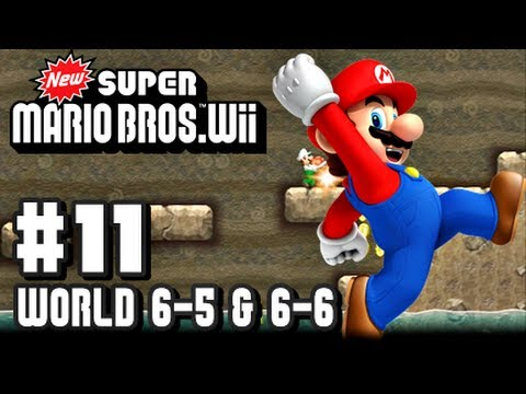 Wii - This is my Co Op 1080p HD Let's Play with live commentary of New Super Mario Bros Wii for the Nintendo Wii! This is part 11 and we do World 6-5 & 6-6! Make s...