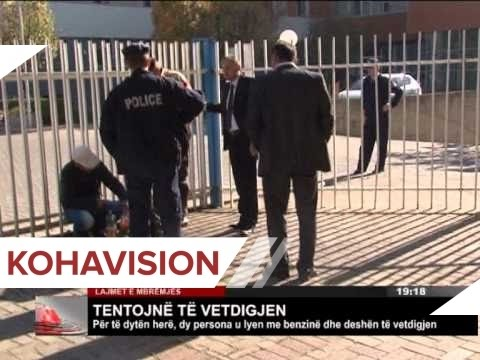Pamje shokuese ku dy persona tentojne te vetedigjen ne Prishtine (Video)