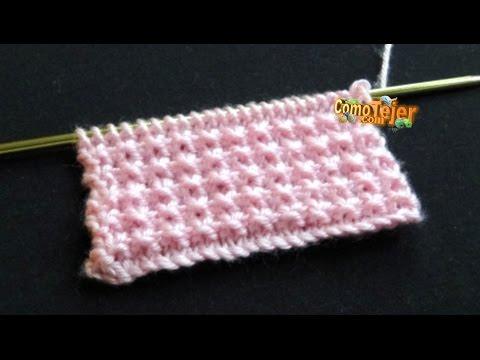 punto picos lavorato a maglia