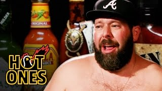 Bert Kreischer Sweats Profusely Eating Spicy Wings | Hot Ones