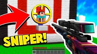 MINECRAFT SNIPER BOW CHALLENGE! (GUN TEXTURE PACK)