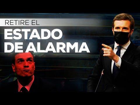 Casado a Sánchez: Retire el estado de alarma