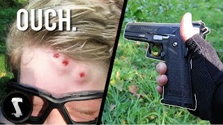 Video Possibly the Most Painful Airsoft Pistol in Existence (1800 RPM Pistol) MP3, 3GP, MP4, WEBM, AVI, FLV Maret 2018
