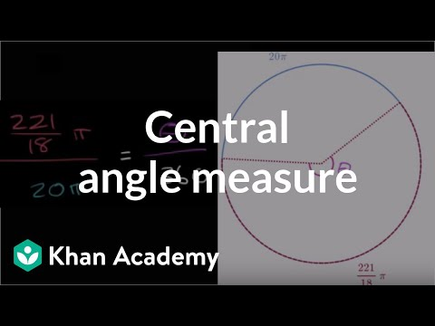 Subtended Angle From Arc Length Video Khan Academy