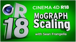 In This Cinema 4D R18 tutorial video, learn about an update to the MoGraph Cloner Animation system, the new MoGraph Scaling system. With C4D R18 Mograph Scaling, you can adjust the scale at which clones are applied in different cloner modes using a slider and spline. With MoGraph scaling in Cinema 4D R18, you can automatically scale down different clones in smaller areas of a cloner set to Object Mode, as well as fully customize the scaling across various 3D surfaces. This new feature and updates in Cinema 4D R18  are just a few of many updates for C4D R18, available in 2016. There are also additional updates to Cinema 4D R18 including the Material updates with the ThinFilm Shader and Parallax Bump Mapping, Inverted Ambient Occlusion, the new Shadow Catcher materials, MoGraph updates, new effectors, and more! To learn about other updates to Cinema 4D R18, be sure to check out www.MotionTutorials.net/updates-new-featuresBe sure to check out the new product, 360° Environment Maps Pro for Cinema 4D, Cinema 4D Lite, and Element 3D in the online store:  http://www.motiontutorials.net/store/With 360° Environment Maps Pro, you can get new environments for your Cinema 4D & Element 3D Projects.Check it out for Cinema 4D / C4D Lite:  http://tiny.cc/bqmbcyCheck it out for Element 3D for AE:  http://tiny.cc/1qmbcyTo learn about the new MoGraph Animation Features for Cinema 4D R18 individually, check out these videos:MoGraph R18 Cloner HoneyComb Array:  http://tiny.cc/mv84cyMoGraph R18 Scaling:  http://tiny.cc/gt84cyMoGraph R18 Push Apart Effector:  http://tiny.cc/su84cyMoGraph R18 ReEffector:  http://tiny.cc/iu84cyMoGraph R18 Weight Painting:  http://tiny.cc/ct84cyLike this tutorial? Consider becoming a Patron at Patreon.com/SeanFrangella to get additional benefits such as project files and more! Be sure to check out http://www.MotionTutorials.net for weekly tutorials on Cinema 4D, After Effects, Element 3D, Adobe Fuse and other cool motion graphics apps! This free Cinema 4D R18 tutorial also covers 3D animation tips and tricks in C4D.To get weekly Cinema 4D, Element 3D, After Effects, Motion Graphics, VFX, and 3D animation tutorials be sure to subscribe!http://www.youtube.com/subscription_center?add_user=SEANFRANGELLA To check out new features added to Cinema 4D R17, check out this video!http://tinyurl.com/gtf2h9rTo check out new features added to Cinema 4D R16, check out this video!http://tinyurl.com/ptphgwhCheck out the Top 5 Features of Element 3D V2 for After Effects!http://tinyurl.com/p3g4nwq