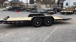 2. Sure Trac Gravity Tilt Equipment Trailer Lowboy Hauler 7x18' 14000# GVW