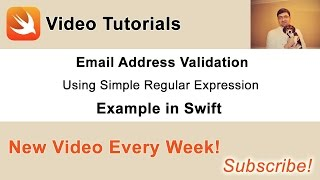 In this video I am going to share with you how to implement a simple email validation for your app registration form using a simple regular expression in Swift.*** Get the source code of the project in this video: http://swiftdeveloperblog.com/email-address-validation-in-swift/***
