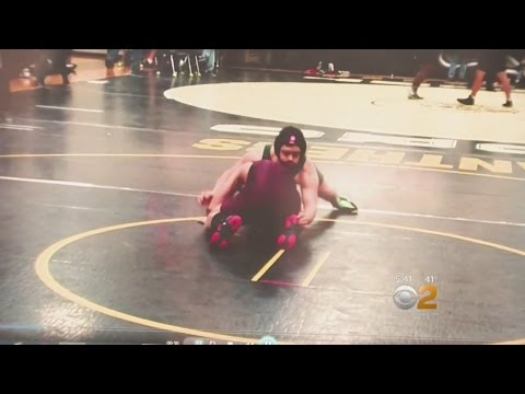 Watch video Special Needs Wrestler Makes Varsity Team Debut