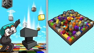 Minecraft Survival But Blocks FALL from the SKY!