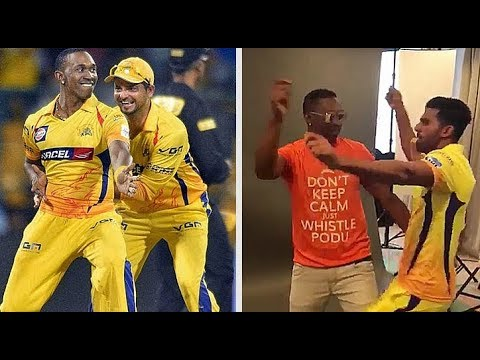 Dj Bravo • Run D World • Cricketers Dancing On Song • CSK