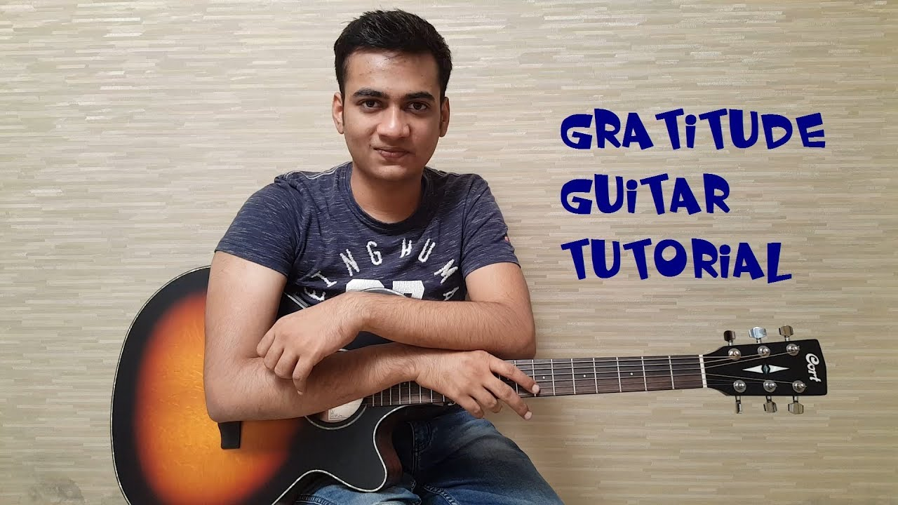 Gratitude Guitar Tutorial with Plectrum