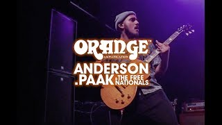 Jose Rios of Anderson Paak and the Free Nationals and Orange Amps.