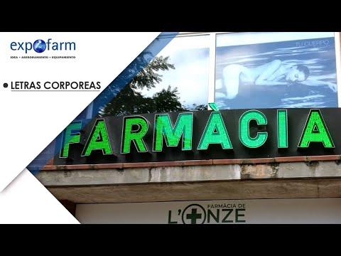 Rótulos LED para farmacia