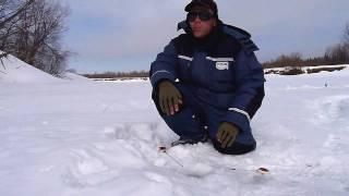 Ловля зимой на черта + Видео