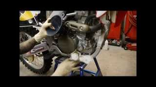 10. How to change your oil and oil filter on your CRF250R dirtbike with Jacqueline Carrizosa