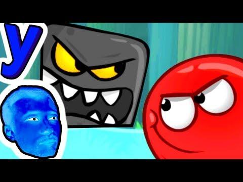 ПРоХоДиМеЦ и КРАСНЫЙ ШАРИК справляются с ЧЕРНЫМИ КВАДРАТАМИ! #393 ИГРА для ДЕТЕЙ - Красный Шар (видео)