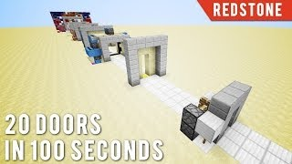 Minecraft: 20 Doors In 100 Seconds