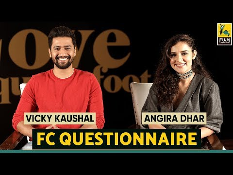 Vicky Kaushal and Angira Dhar I Film Companion Questionnaire   Love Per Square foot   Netflix