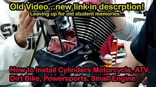 4. Part 03.1 How to install piston cylinder trick method on a Harley v-twin S&S Revtech EVO