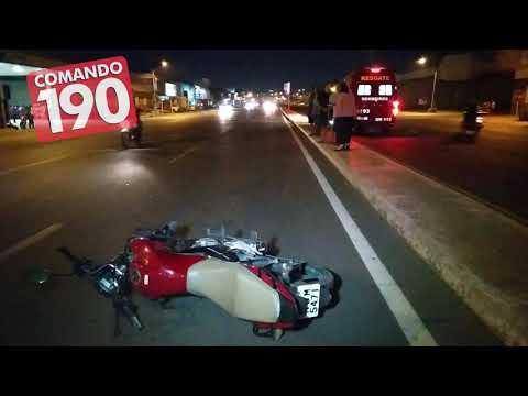 Motociclista cai ao tentar se desviar de radar, em Ji Paraná