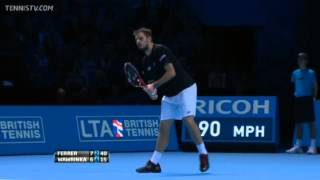 Tennis Highlights, Video - David Ferrer Vs Wawrinka Barclays ATP World Tour Finals 2013 Group A 2nd Set
