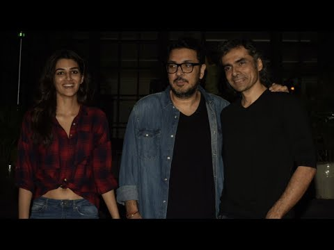 STUNNING KRITI SANON, DINESH VIJEN AND IMTIAZ ALI SPOTTED AT JUHU