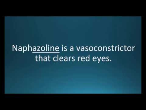 How to pronounce naphazoline (Naphcon-A) (Memorizing Pharmacology Video Flashcard)
