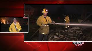 Cierran autopistas por el incendio – Noticias 62 - Thumbnail