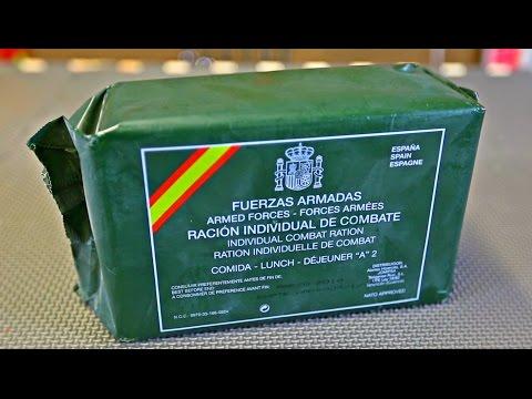 Y esto es lo que comen los militares españoles cuando están en combate