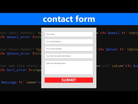 Video HTML/PHP Contact Form Tutorial with Validation and Email Submit download in MP3, 3GP, MP4, WEBM, AVI, FLV January 2017